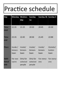practice-schedule